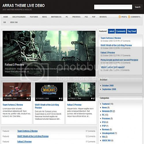 arras theme wordpress 10 Temas grtis para Wordpress (Parte 2)
