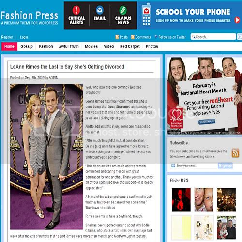 fashion press theme wordpress 10 Temas grtis para Wordpress (Parte 2)