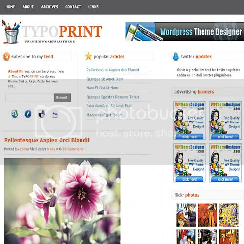 typoprint theme wordpress 10 Temas grtis para Wordpress (Parte 2)