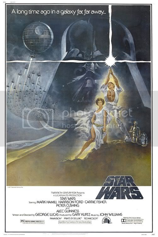 Only half this poster is true.  Luke is not ripped, but Leia is very sexy. 